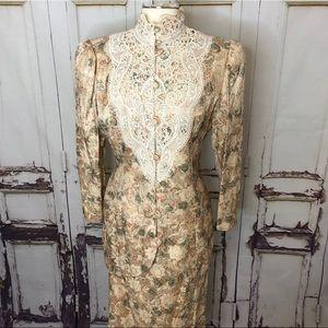 Vintage JESSICA MCCLINTOCK Victorian floral jacket
